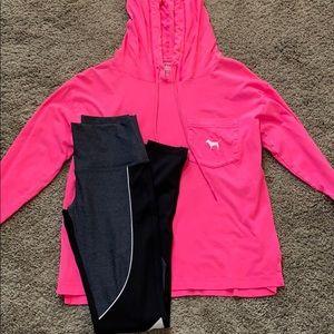 Vspink sweatshirt and leggings set